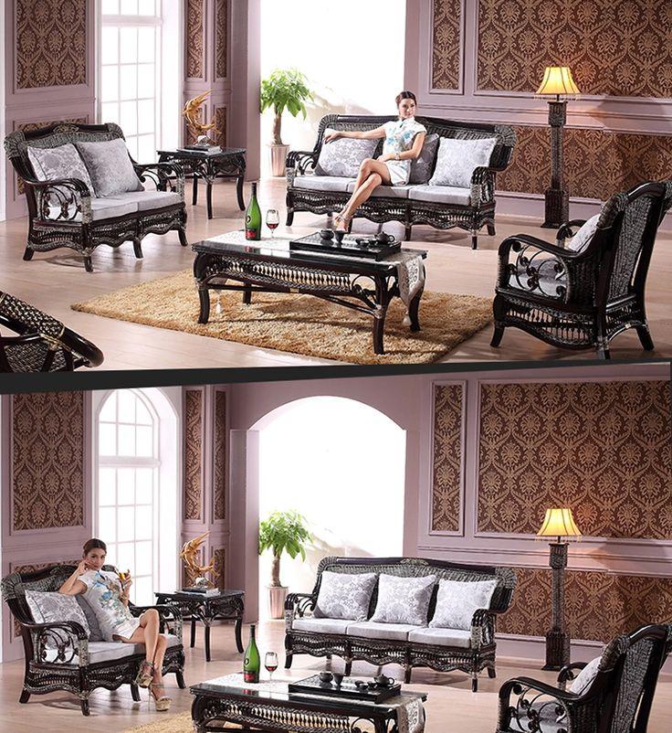 13 besten Rattan + Wood Wicker Indoor Furniture --Black Items ...