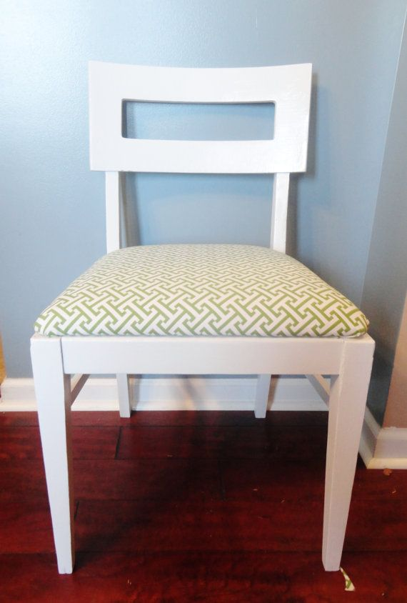 Retro Refinished Chair  Modern Vintage by SimplySalvage on Etsy, $100.00  --great idea for an office chair