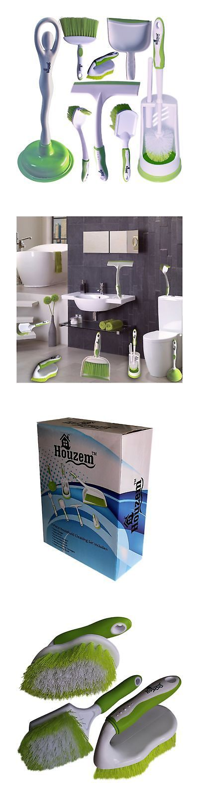 Toilet Brushes and Sets 66723: Toilet Brush Set By Houzem All-In-One Set - Scrub Brush Toilet Plunger Window... -> BUY IT NOW ONLY: $31.77 on eBay!