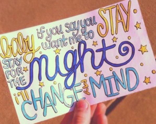 Change My Mind Lyric Drawing.