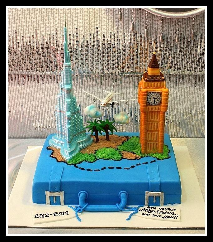 Burj Khalifa and Big Ben Cake
