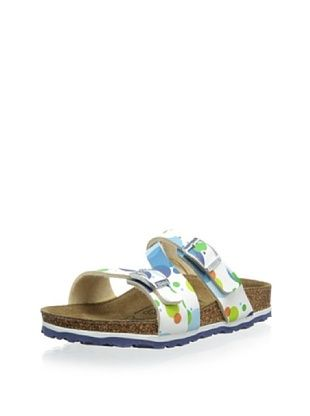 54% OFF Birki's Kid's Cork Lucky Sandal (Aqua)