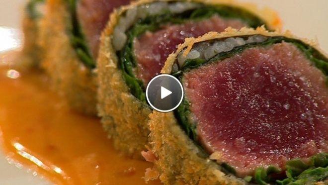 Krokante Tonijnsashimi in Wasabi - Recept   24Kitchen