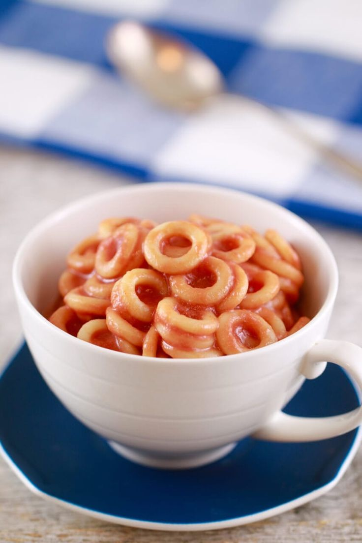 Homemade spaghettios in a mug gemmas bigger bolder