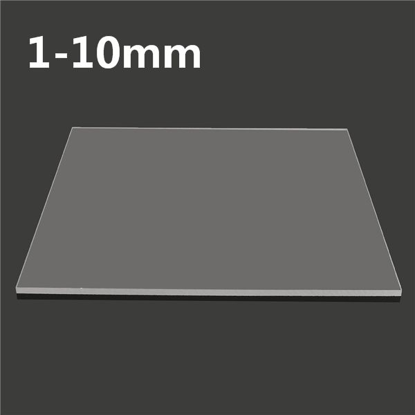 500x500mm Acrylic Perspex Sheet Cut Panel Plastic Satin Gloss Board