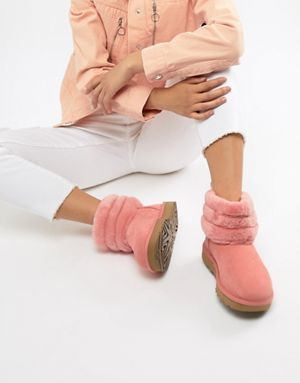 e991dc9d05b Ugg Fluff Mini Quilted Boot in Pink | Fashion | Uggs, Asos, Fashion