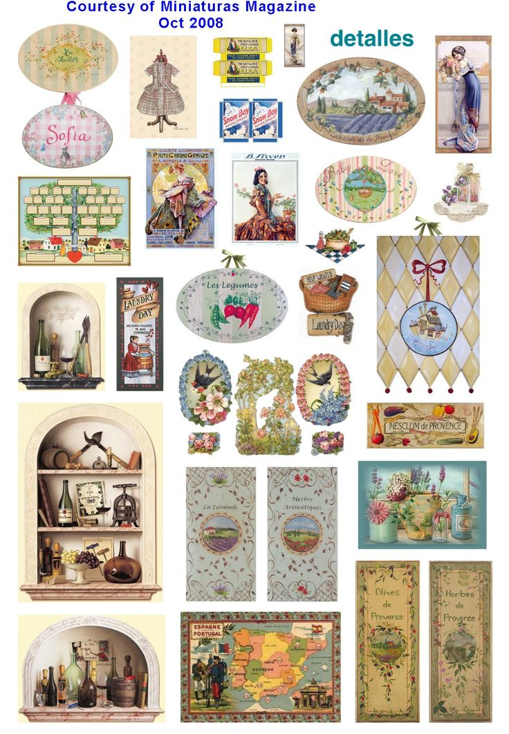 Dollhouse printables from Miniaturas magazine  http://www.cdhm.org/printies/windows-signs-02.jpg