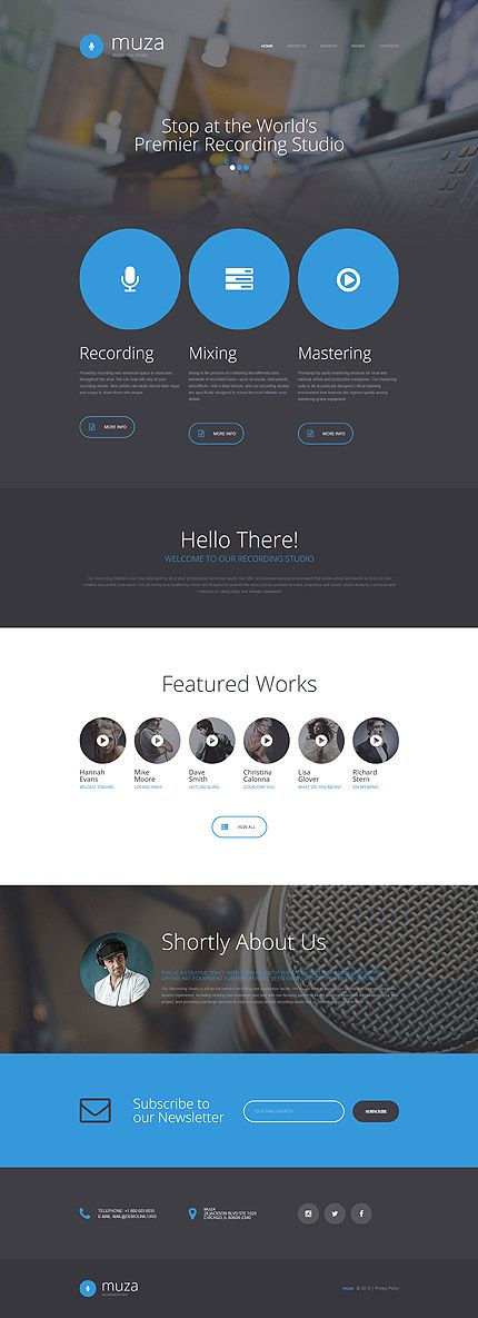 Music website inspirations at your coffee break? Browse for more Responsive JavaScript Animated #templates! // Regular price: $69 // Sources available: .HTML,  .PSD #Music #Responsive JavaScript Animated