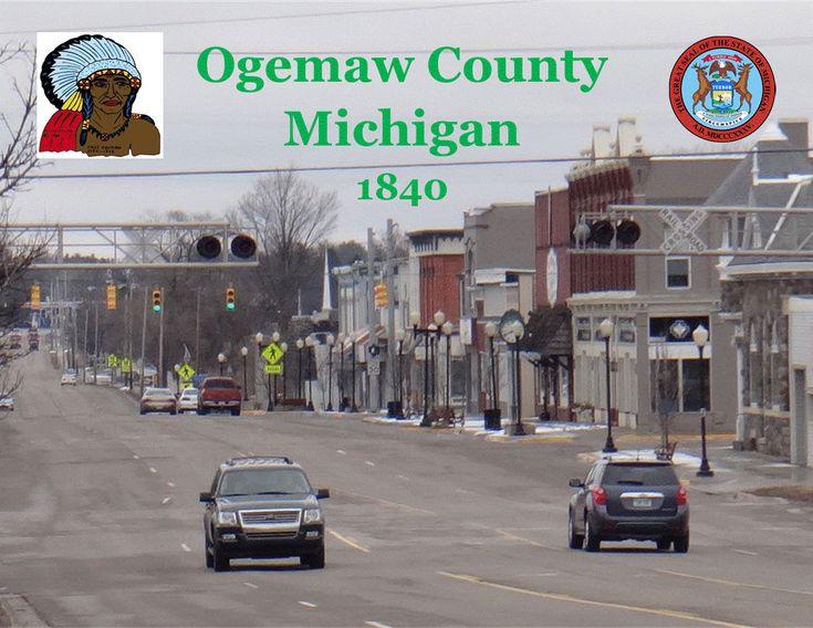 1840 ogemaw county michigan united states seat west