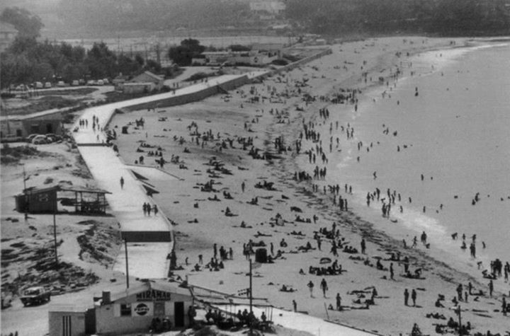 Playa de #Samil. #Vigo, ciudad olívica. Fotos antiguas.