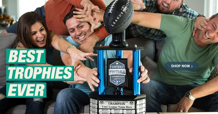 Trophy Smack's exclusive Fantasy Football championship merchandise and Fantasy Football trophies can be customized by Size, Column Color, Plaque Quote and Trophy Top. Take the first step to Level Up Your Fantasy Smack Talk and get Free Shipping now!