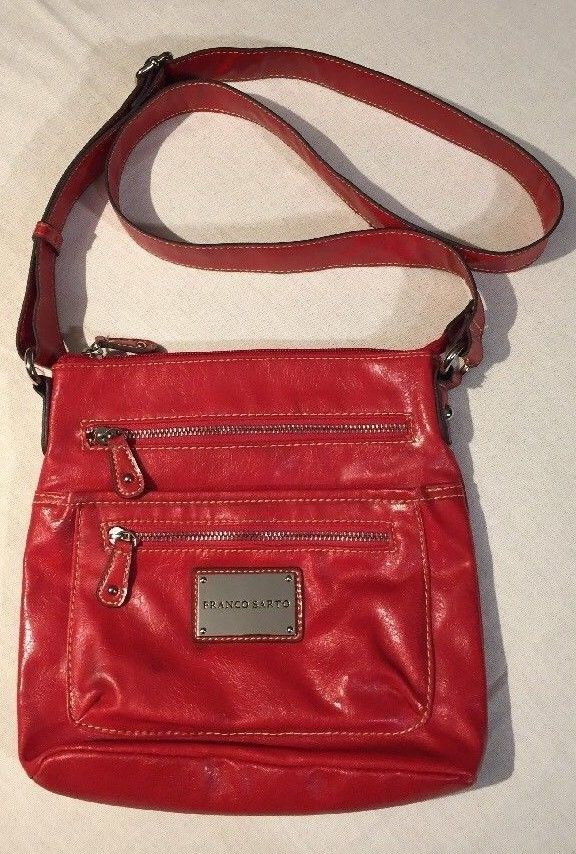 bc1df0203ab1 Franco Sarto Crossbody Purse Red Adjustable Strap
