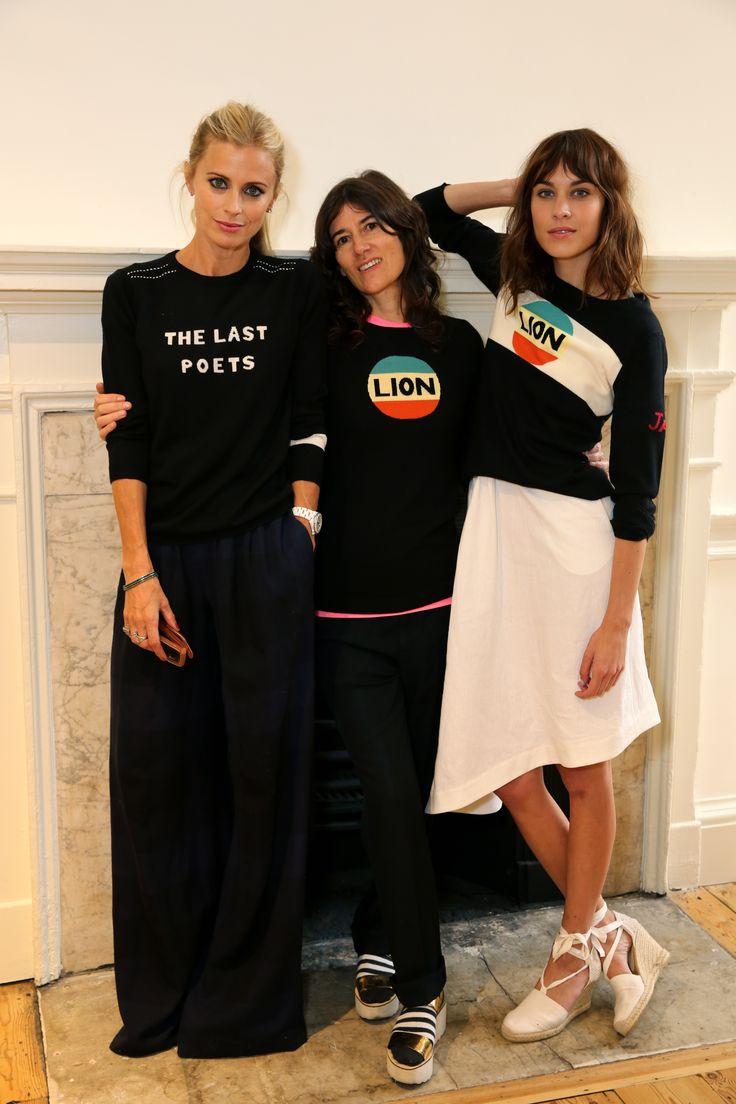 Laura Bailey, Bella Freud & Alexa Chung