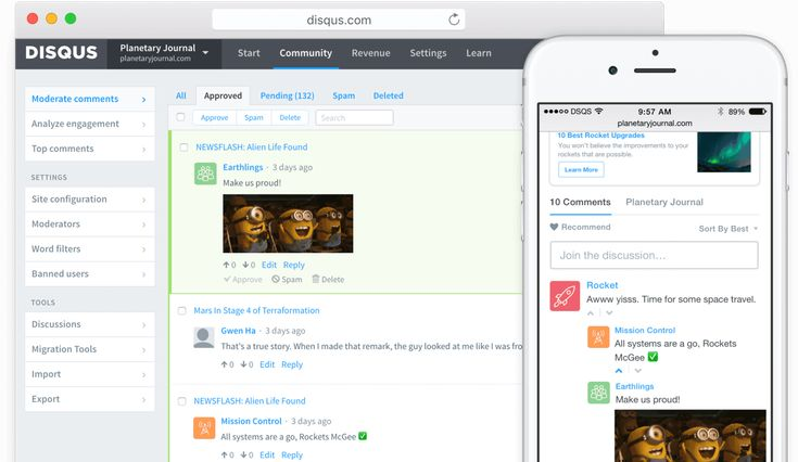 Disqus offers the best add-on tools for websites to increase engagement. We help publishers power online discussions with comments and earn revenue with native advertising.
