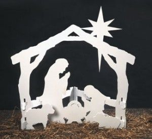 Nativity scene template for yard decorations
