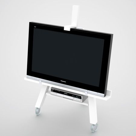 TV Easel designed by Swedish designer Axel Bjurström is a very interesting TV stand concept. It's quite minimalist but has some interesting functions besides simply supporting TV. The stand features wheels. Thanks to that it is perfect for small spaces because you can move it away when nobody is watching it. Besides that makes it...