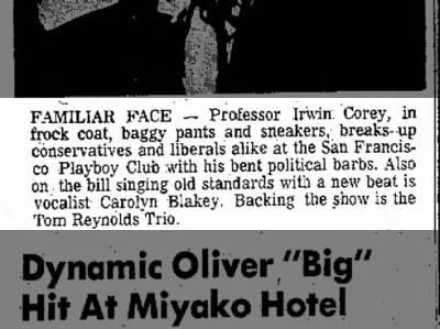 Family Connections Article Mentioning Carolyn Blakey on June 23, 1972 on page 13