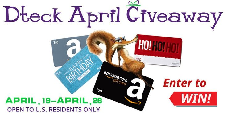 April giveaway to win 50 amazon gift card