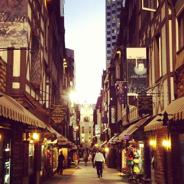 London Court in Perth city at dusk Western Australia Photo by bonnyanne