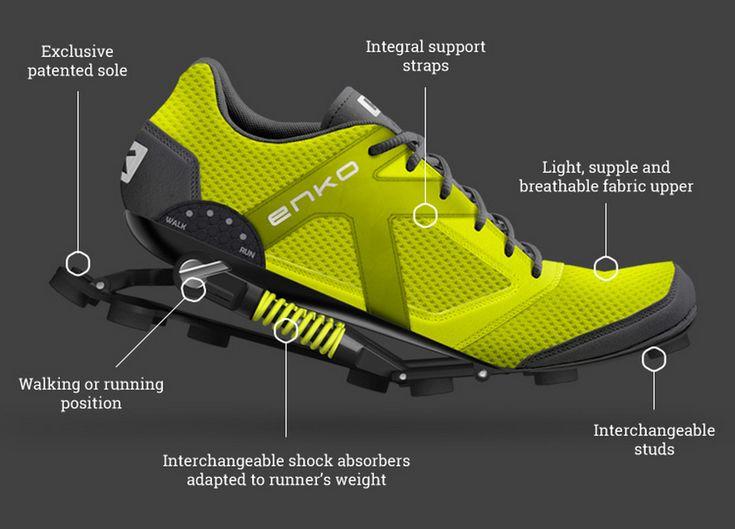 Enko Running Shoes chaussure avec amortisseurs