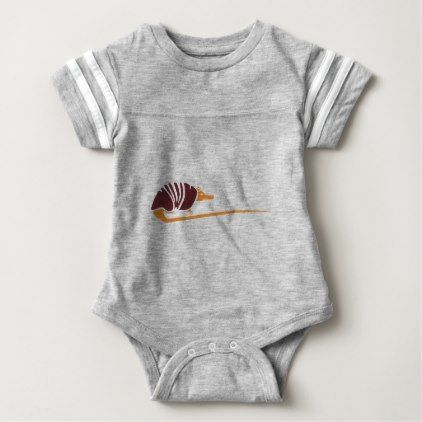 Abstract Southwestern Armadillo Baby Bodysuit - animal gift ideas animals and pets diy customize
