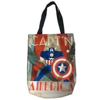 'Captain America' Vintage Art Deco Shopper Tote Bag