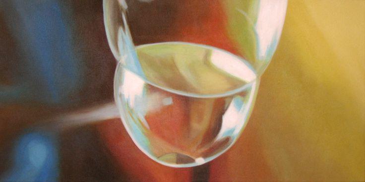 Rachelle Kearns - 'Bubbly' - Bubble #3 Acrylic paint on canvas, 24 x 48 inches #bubble #painting #light