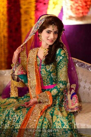 Pakistani stunning Mehndi bride