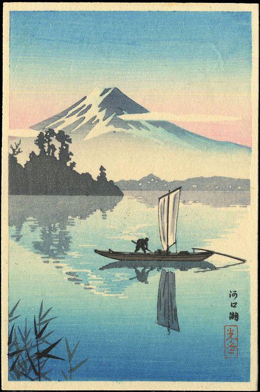 Koitsu, Tsuchiya (1870-1949) - Kawaguchi Lake - 河口湖