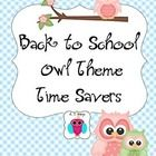 This is a fun set of forms and resources for back to school, or for adding a theme to your classroom.  It includes name tags, bus tags, award chart...