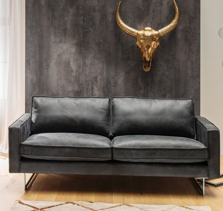 Kasper Wohndesign Ledersofa 2 5 Sitzer Oder 3 5 Sitzer Leder Schwarz Aline Kasper Leder Ledersofa Schwarz Sitzer Wo Leather Sofa Sofa Leather Armchair