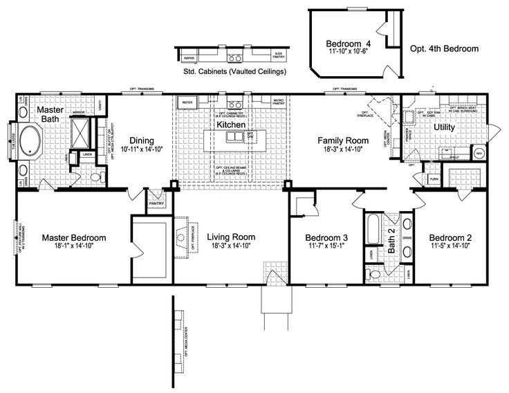 Charming The Sonora II Home Floor Plan   Sq., 3 Bedrooms, 2 Baths   Floor Plan For  Manufactured Or Modular Floor Plans Available From Palm Harbor Hoems