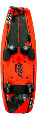 JetSurf - czech enginered and made water surf powered by engine up to 55 km/h. Wights only 14kg.