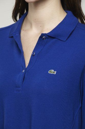 #Lacoste Long Sleeve Belted Pique Polo #Dress