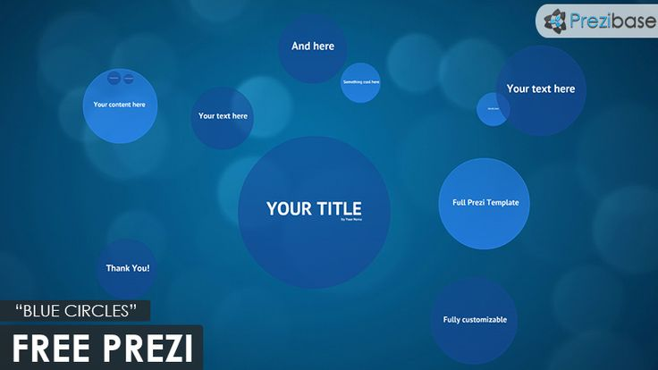 free prezi template blue circles