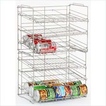 Atlantic Inc Double High Canrack In Silver transitional-cabinet-and-drawer-organizers
