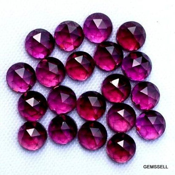 25 Pieces Wholesale Lot Natural Amethyst Oval Shape Rose Cut Gemstone For Jewelry