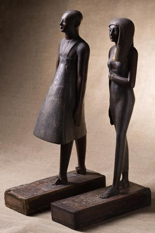 Statuettes of high priest Amenhotep and priestess Renai, 15th cent. BC - The Pushkin Museum of Fine Arts
