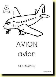 A comme...  French free printable alphabet