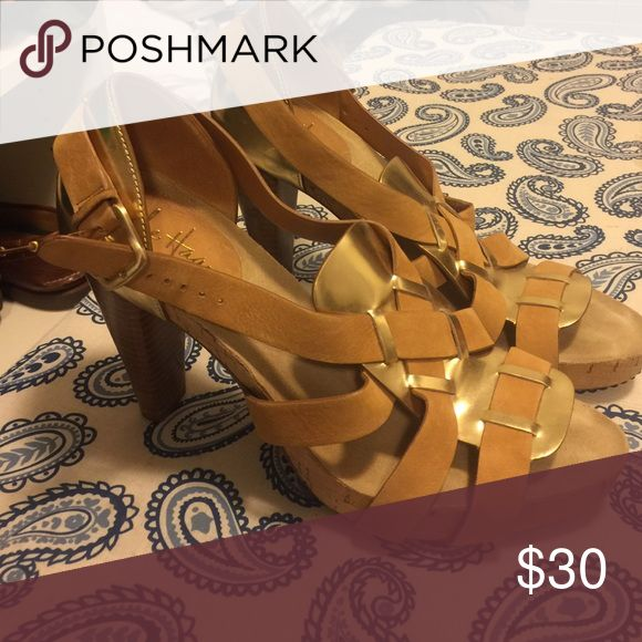 Cole Haan pumps Worn once, gold and leather cole Hahn pumps Cole Haan Shoes Heels