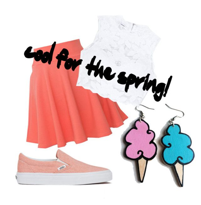 """cool for the spring!"" by serine-nedjadi on Polyvore featuring QNIGIRLS, Vans, Bebe and Junk Food Clothing"