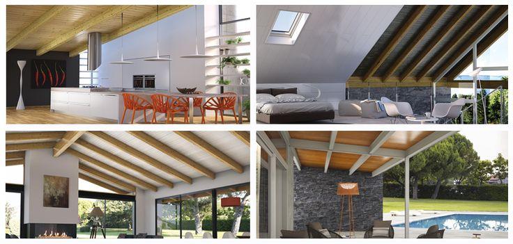 Simulador de Ambientes THERMOCHIP: elige entre habitación, salón, cocina o terraza y adáptalo a tu gusto con nuestros paneles sándwich | #THERMOCHIP #panelesandwich #madera #decoracion #arquitectura #interiordesign