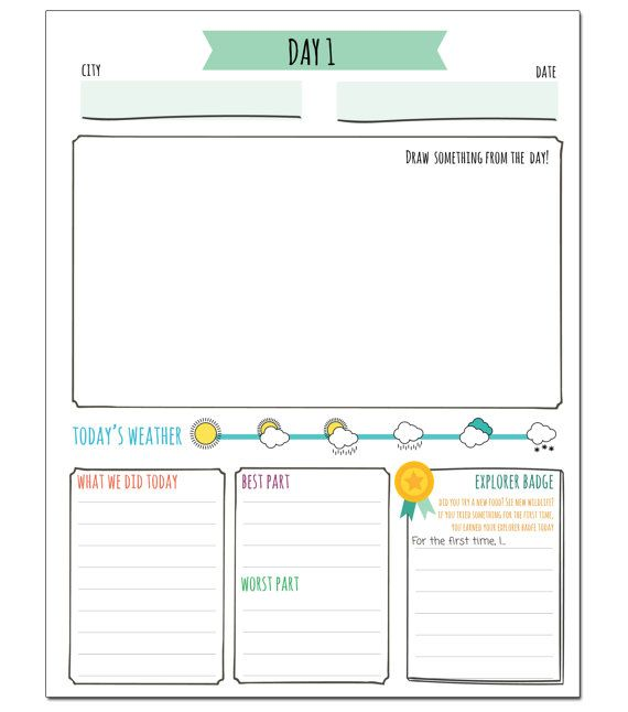 The 25 best roadtrip journal ideas on pinterest trip for Open office journal template