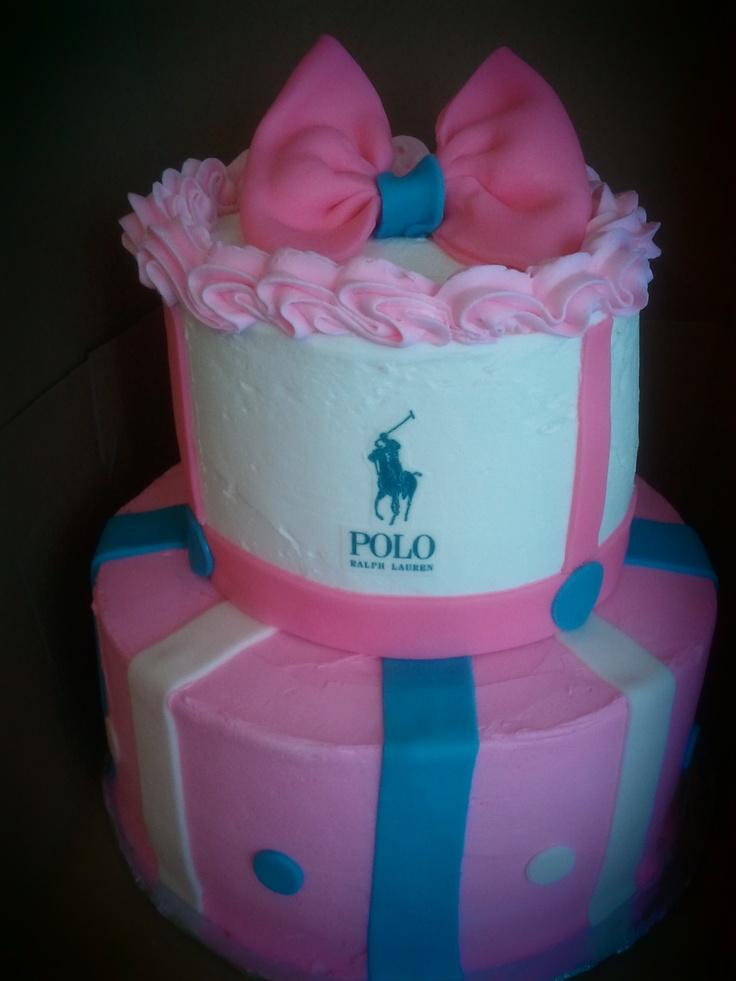Ralph Lauren Pink Polo Cake