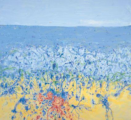 John Olsen - Popping blue bottles