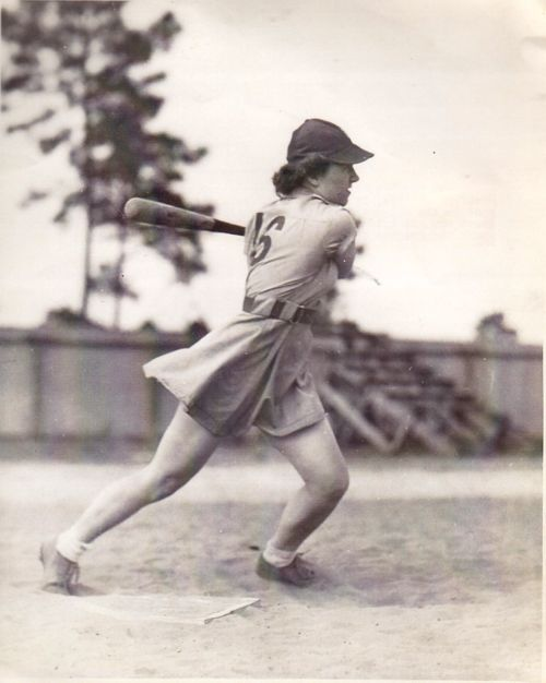 "Love the movie ""A League of Their Own,"" and its story. This photo reminds me entirely of the drive those strong female characters had!"