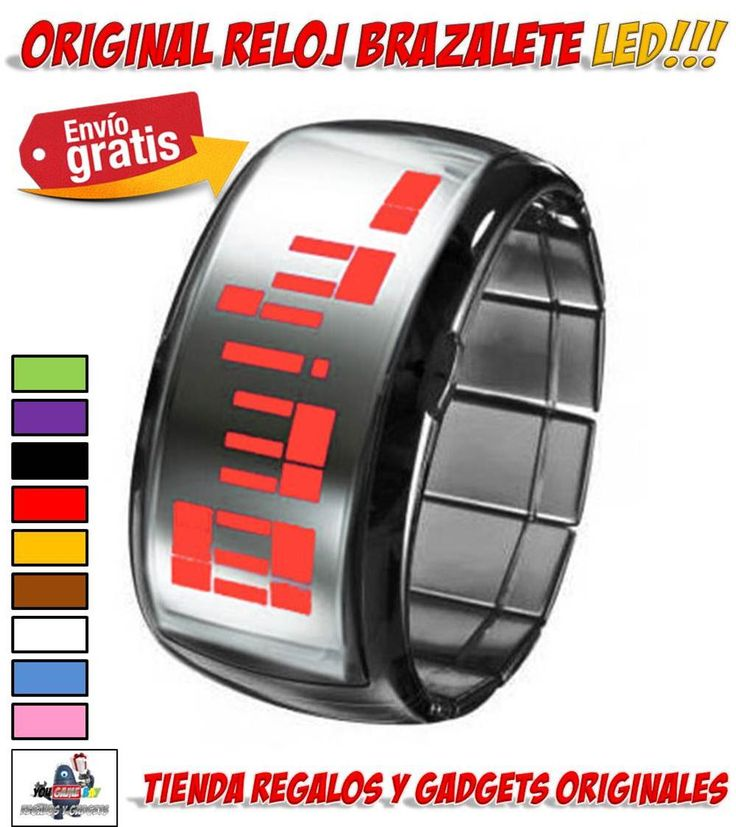 #reloj #brazalete #pulsera #complementos #moda #LED #original #regalos #gadgets   Original reloj con luz LED. Venta relojes LED baratos. Comprar reloj brazalete con imuninación LED. Ya están aquí los relojes de pulsera más originales!!! http://www.yougamebay.com/es/list/category/relojes_originales