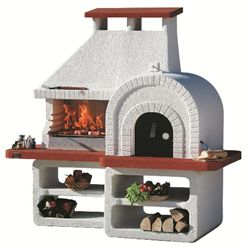 Masonry Ranch Charcoal Barbecue with Pizza Oven