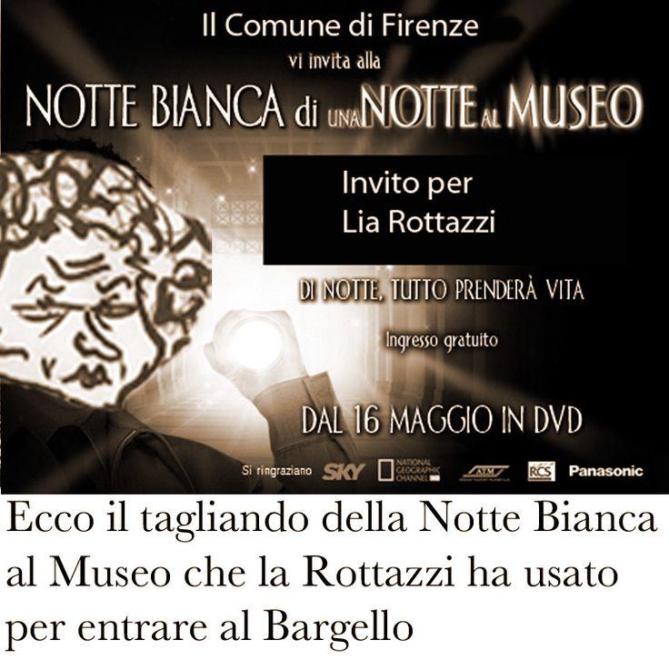 """Supermegaboy - Ep. 34: """"Sulla cima del Bargello"""" - Ecco il tagliando della Notte Bianca al Museo che la Rottazzi ha usato per entrare al Bargello"""