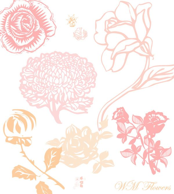 Free flower dingbat font